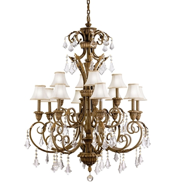 Kichler 2131RVN Ravenna Collection Chandelier 12 Light in Ravenna