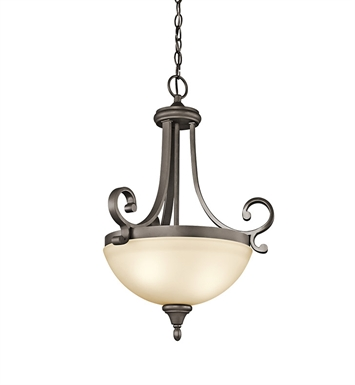 Kichler 43163OZ Monroe Collection Inverted Pendant 2 Light in Olde Bronze