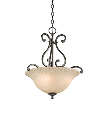Kichler Camerena Collection Inverted Pendant 3 Light in Olde Bronze