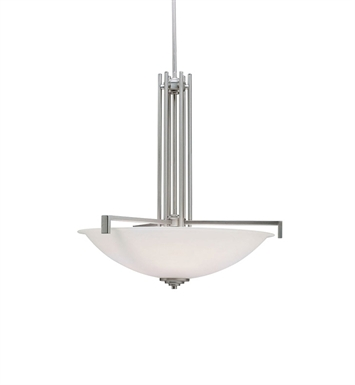 Kichler 3299NI Eileen Collection Inverted Pendant 4 Light in Brushed Nickel