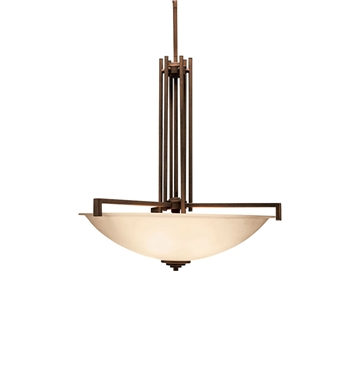 Kichler 3299OZ Eileen Collection Inverted Pendant 4 Light in Olde Bronze