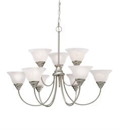 Kichler Telford Collection Chandelier 9 Light Fluorescent in Brushed Nickel