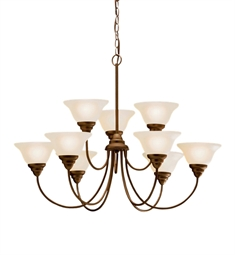 Kichler Telford Collection Chandelier 9 Light Fluorescent in Olde Bronze