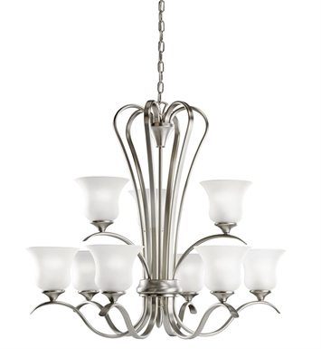 Kichler 10741 Wedgeport Collection Chandelier 9 Light Fluorescent