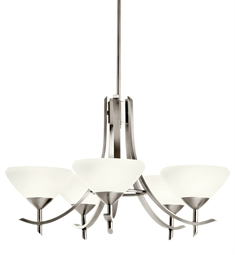 Kichler Olympia Collection Chandelier 5 Light Fluorescent in Antique Pewter