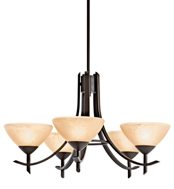 Kichler 10776OZ Olympia Collection Chandelier 5 Light Fluorescent in Olde Bronze