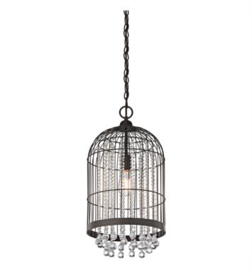 Kichler 42033OZ 1 Light Incandescent Foyer Cage Pendant in Olde Bronze