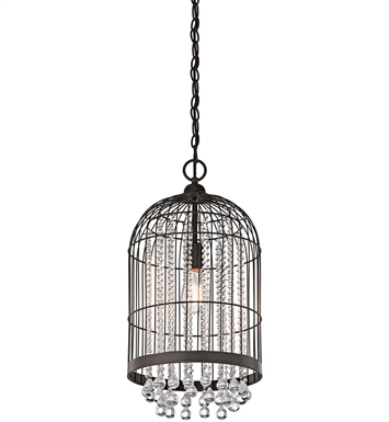 Kichler 42033OZ Foyer Pendant/Cage 1 Light in Olde Bronze