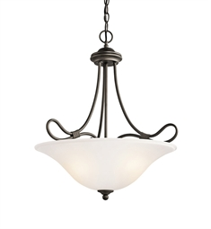 Kichler Stafford Collection Inverted Pendant 3 Light in Olde Bronze