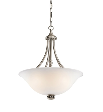 Kichler 42067AP Durham Collection Inverted Pendant 3 Light in Antique Pewter