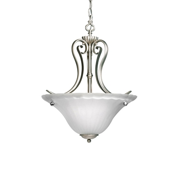 Kichler 3325NI Willowmore Collection Inverted Pendant 2 Light in Brushed Nickel