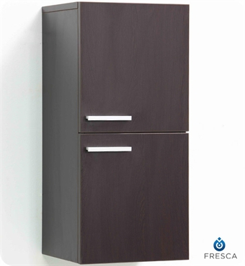 Fresca FST8091WG Wenge Bathroom Linen Side Cabinet with 2 Storage Areas