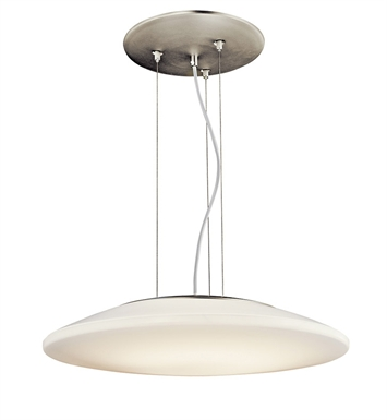 Kichler 10710NI Ara Collection Pendant 1 Light Fluorescent in Brushed Nickel