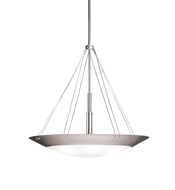 Kichler 3245NI Structures Collection Inverted Pendant 6 Light in Brushed Nickel
