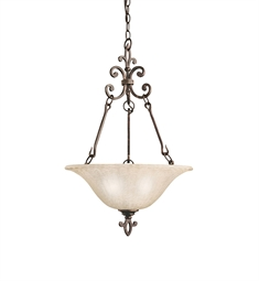 Kichler Wilton Collection Inverted Pendant 3 Light in Carre Bronze
