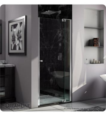 "DreamLine SHDR-4236728-01 Allure 30 to 40 in   Frameless Pivot Shower Door, Clear Glass Door With Dimensions: W 36"" to 37"""