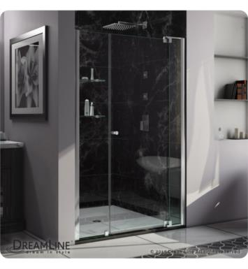 "DreamLine SHDR-4248728-01 Allure 40 to 50 in Frameless Pivot Shower Door, Clear Glass Door With Dimensions: W 48"" to 49"" And Shower Base: No Base"