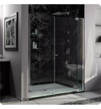 "DreamLine SHDR-4260728-01 Allure 60 to 67 in. Frameless Pivot Shower Door, Clear Glass Door With Dimensions: W 60"" to 61"""