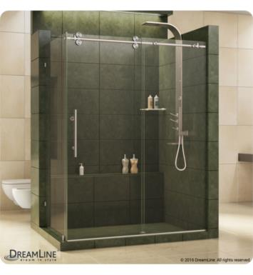 "DreamLine SHEN-60367212-07 Enigma 36 in Fully Frameless Sliding Shower Enclosure With Dimensions: W 72 1/2"" And Finish: Brushed Stainless Steel"