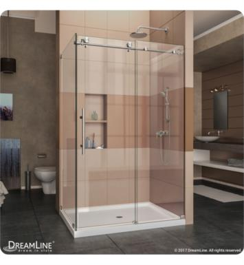 DreamLine SHEN-6134600-07 Enigma-X Fully Frameless Sliding Shower Enclosure With Finish: Brushed Stainless Steel And Dimensions: W 60 3/8""