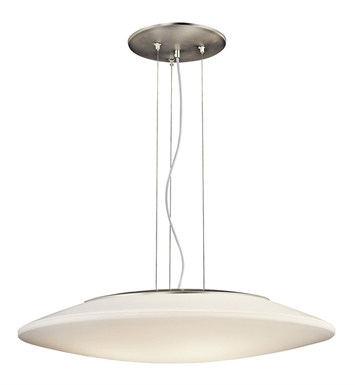 Kichler Ara Collection Pendant 3 Light Fluorescent in Brushed Nickel