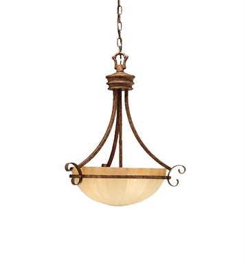 Kichler 3321LBZ Northam Collection Inverted Pendant 3 Light in Lincoln Bronze