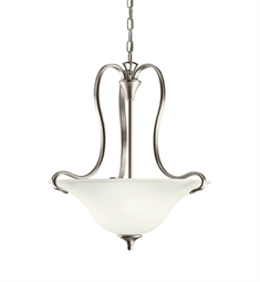 Kichler Wedgeport Collection Inverted Pendant 2 Light Fluorescent in Brushed Nickel