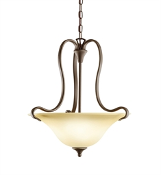 Kichler Wedgeport Collection Inverted Pendant 2 Light Fluorescent in Olde Bronze