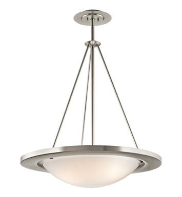 Kichler Pendant 3 Light Fluorescent in Brushed Nickel