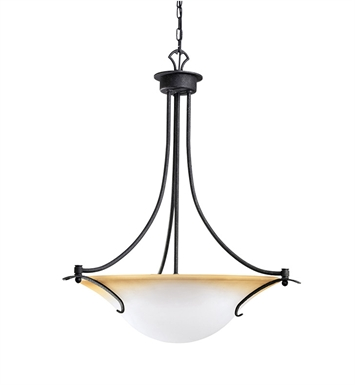 Kichler 3431DBK Pomeroy Collection Inverted Pendant 3 Light in Distressed Black