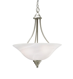 Kichler Telford Collection Inverted Pendant 3 Light Fluorescent in Brushed Nickel