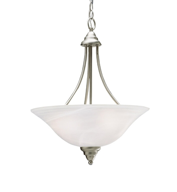 Kichler 10706NI Telford Collection Inverted Pendant 3 Light Fluorescent in Brushed Nickel