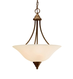 Kichler Telford Collection Inverted Pendant 3 Light Fluorescent in Olde Bronze
