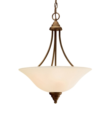 Kichler 10706OZ Telford Collection Inverted Pendant 3 Light Fluorescent in Olde Bronze