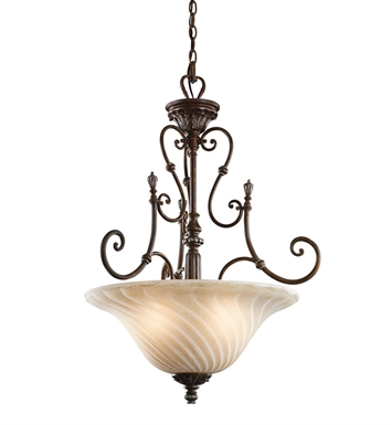 Kichler 42513LZ Sarabella Collection Inverted Pendant 3 Light in Legacy Bronze