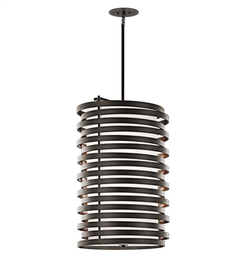 Kichler 43306OZ Roswell Collection Chandelier Foyer 6 Light in Olde Bronze