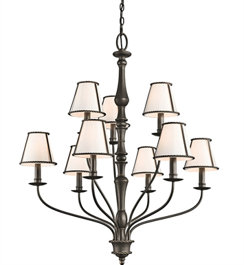 Kichler 43345OZ Donington Collection Chandelier 9 Light in Olde Bronze