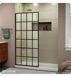 DreamLine SHDR-3234721-89 French Linea Toulon Frameless Shower Door 34 in. x 72 in. Open Entry Design. Satin Black Finish