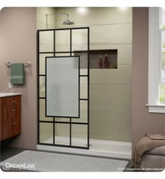 DreamLine SHDR-3234721-86 French Linea Avignon Frameless Shower Door 34 in. x 72 in. Open Entry Design. Satin Black Finish