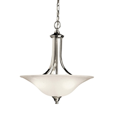 Kichler Dover Collection Pendant 1 Light Fluorescent in Brushed Nickel