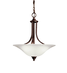 Kichler Dover Collection Pendant 1 Light Fluorescent in Tannery Bronze