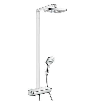 hansgrohe 04610400 raindance select e 300 42 shower set with showerhead and handshower in chrome. Black Bedroom Furniture Sets. Home Design Ideas