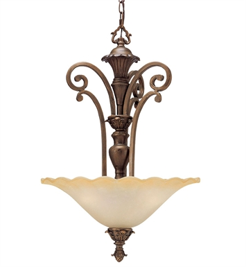 Kichler Cheswick Collection Inverted Pendant 3 Light in Parisian Bronze