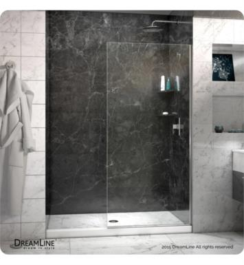 DreamLine SHDR-32721 Linea Frameless Shower Door Open Entry Design