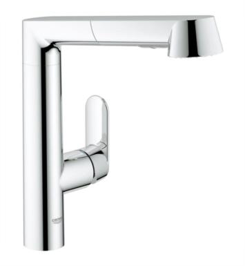 "Grohe 32178DC0 K7 11 7/8"" One Handle Deck Mounted Kitchen Faucet with 2 Function Locking Sprayer With Finish: Supersteel"