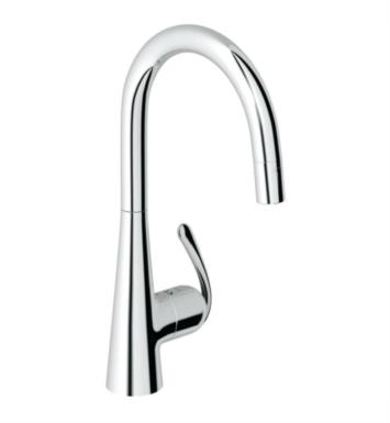 "Grohe 32226SD0 Ladylux3 Pro 16 5/8"" One Handle Deck Mounted Kitchen Faucet with 2 Function Locking Sprayer With Finish: Stainless Steel, Brushed"