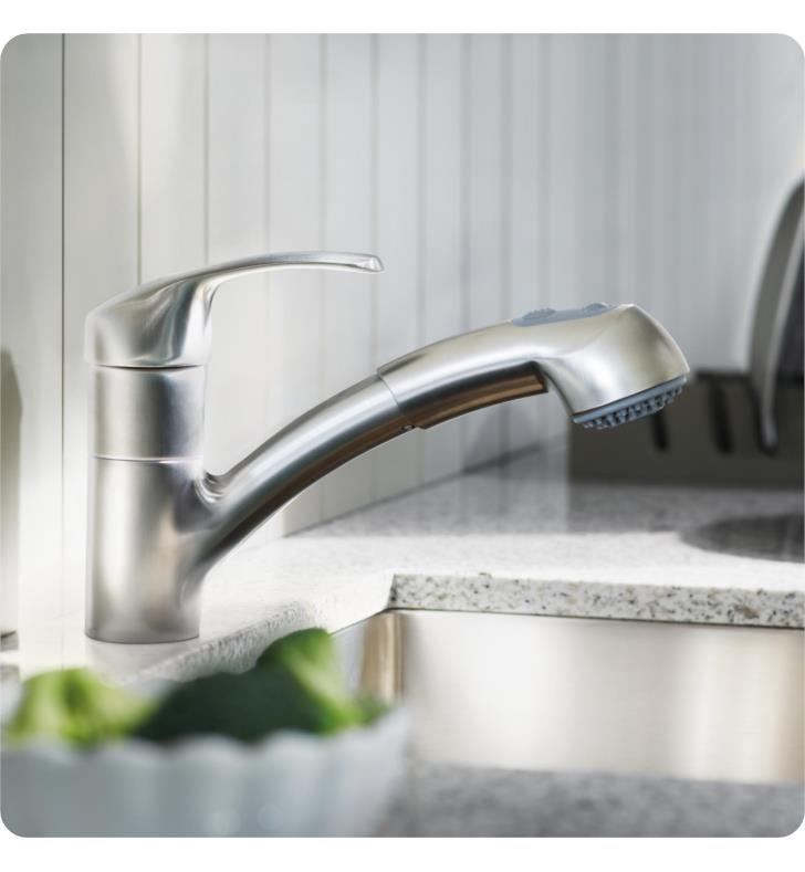 grohe 32999000 alira 7 3 8 quot one handle deck mounted