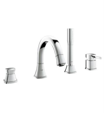 "Grohe 19936EN0 Grandera 10"" Four Hole Widespread/Deck Mounted Roman Tub Filler with Handshower With Finish: Brushed Nickel"