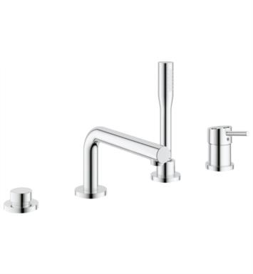 "Grohe 19576001 Concetto 9 7/8"" Four Hole Widespread/Deck Mounted Roman Tub Filler with Handshower With Finish: Chrome"