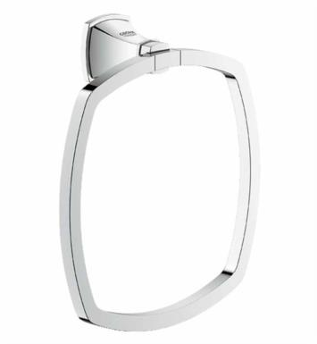 "Grohe 40630EN0 Grandera 7 1/8"" Wall Mount Towel Ring With Finish: Brushed Nickel"
